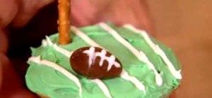 Make football cupcakes