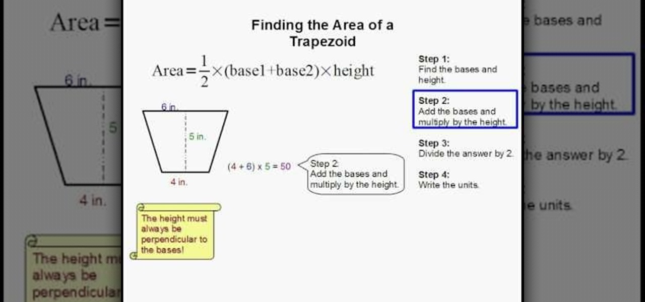 How To Find The Area Of A Trapezoid Easily Science