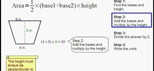 Find the area of a trapezoid easily