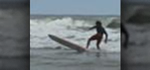 Perform the stall on a surfboard