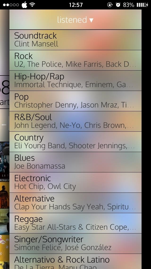 Breakdown Your iPhone's Music to See What Albums, Artist, Songs, & Genres You Listen to Most