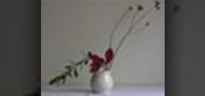 Use basic Ikebana flower arranging techniques