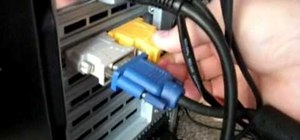 Connect a computer to an HDTV using an HDMI cable