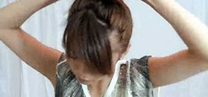 Create an easy Back to School messy updo and lowdo with Goody pins