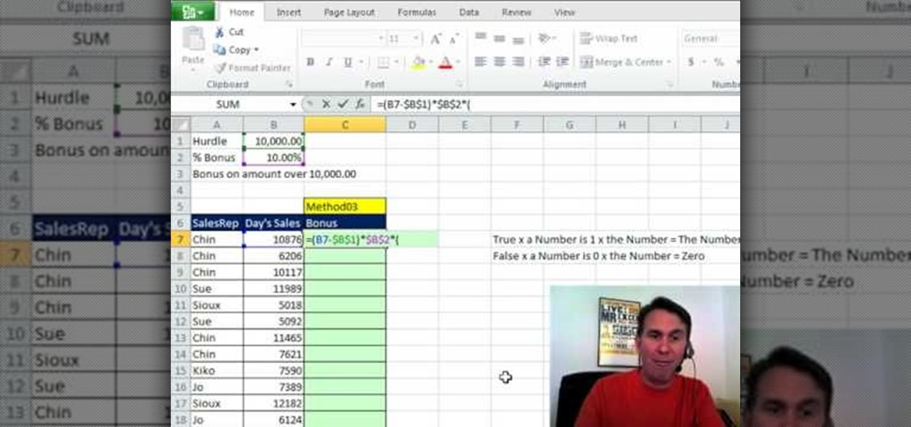 How to Calculate a bonus in Microsoft Excel « Microsoft