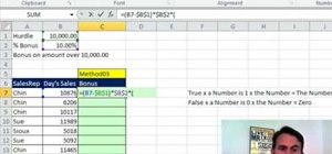 Calculate a bonus in Microsoft Excel