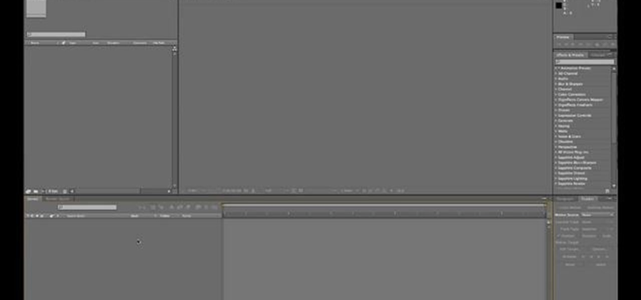 How to Get started using the Adobe After Effects CS5 user