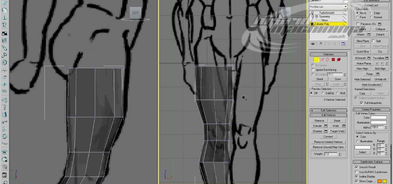 How to use edge loop character modeling in 3d studio max for 3d studio max models