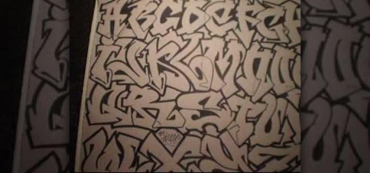 How To Draw A Graffiti Alphabet Graffiti Urban Art Wonderhowto
