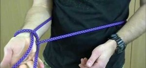 Tie a one handed bowline with ITS tactical