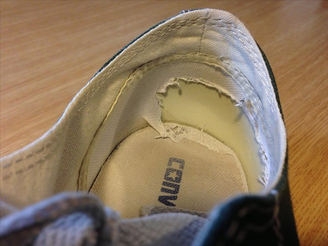 Repair Inside Heel Walking Shoe