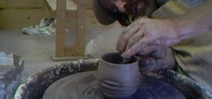 Make criss cross textured tea bowls with Simon Leach
