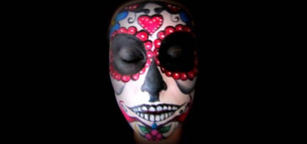 Costume Day Of The Dead Face Painting Facepaint Makeup Man Tattoo ...