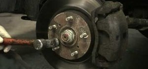 Remove brake rotor screws that may be stuck