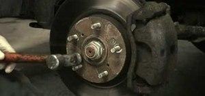 Remove brake rotor screws that may be stuck