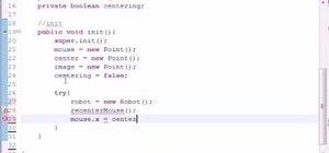 Program a mouselook scroll for Java game development