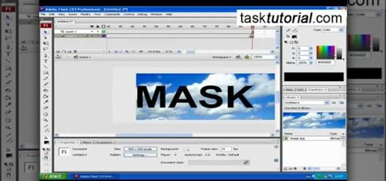 How to Make animation using clipping mask in Flash « Adobe