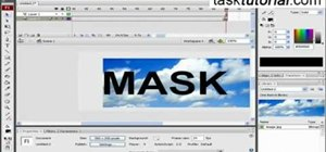 Make animation using clipping mask in Flash