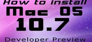Install Mac OS X 10.7 Lion Beta
