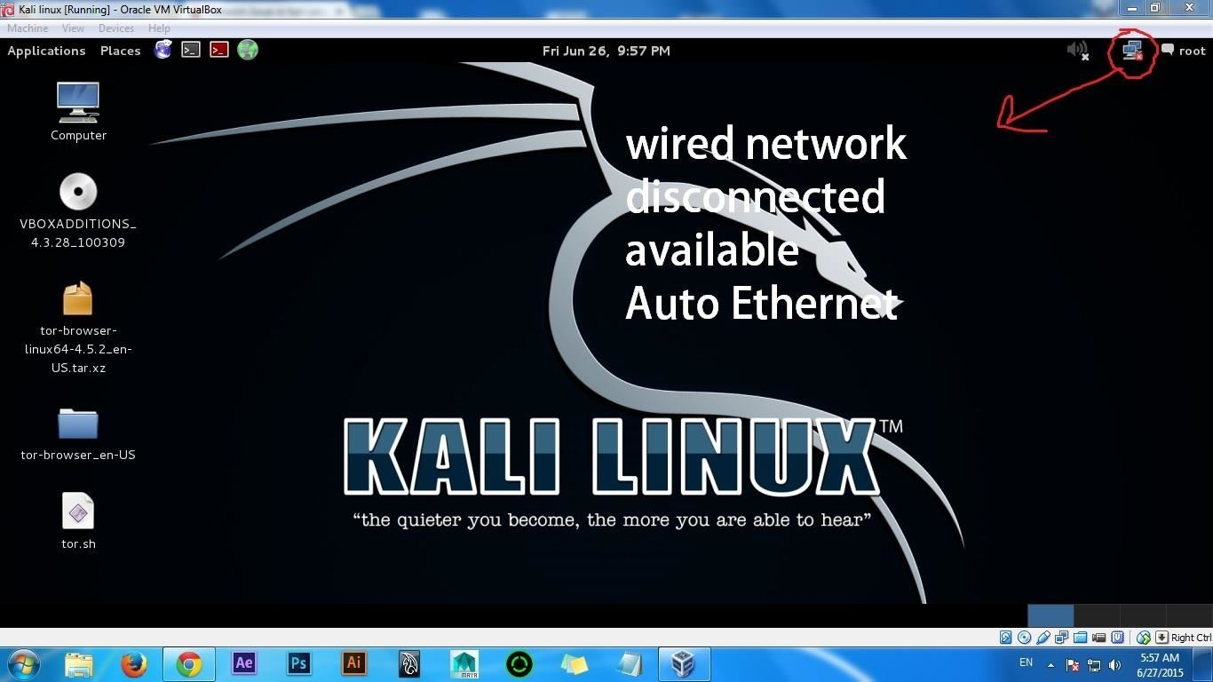 Network Issue in Kali Linux Using VirtualBox « Null Byte