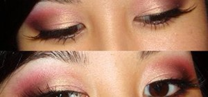 Create a pink summer night smokey eye makeup look