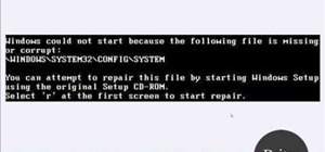 Solve missing Config/System errors on a Microsoft Windows XP PC