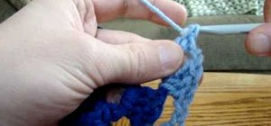 Crochet  a granny square color change