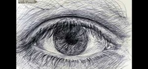 Draw eyes with pencil