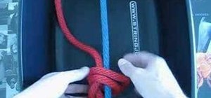 Tie a starting knot for your tennis racket