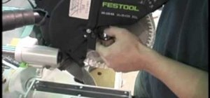 Change the blade on a Festool Kapex Compound Miter Saw