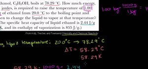 Solve change of state problems in organic chemistry