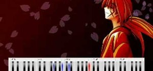 "Play ""Departure"" from anime Rurouni Kenshin on piano"