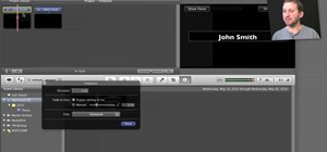 Create a credit sequence within Apple iMovie
