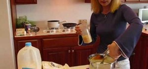 Make a chicken and noodle casserole with Betty