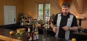 Mix the vieux carre cocktail