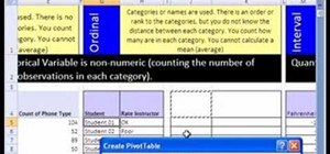 Work with nominal, ordinal & interval scale in Excel