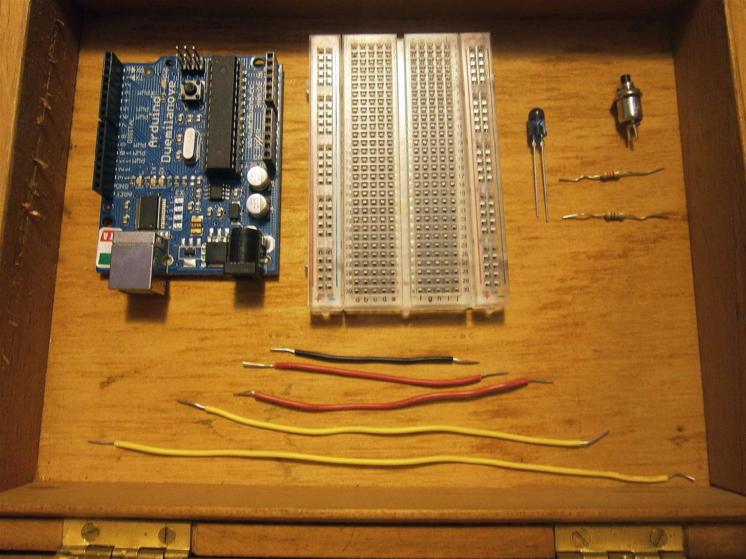 Make Your Own Circuit How To Tv B Gone Silence All Televisions That This Old Cigar Box Makes A Perfect Carrying Case For Tiny Components