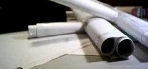 Make a MAC-11 paper gun