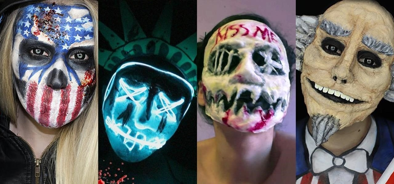 The Purge Is Back This Halloween (DIY Election Year Masks)