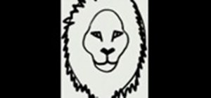 Draw a cartoon lion