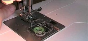 Wind a bobbin and thread the needle on a machine