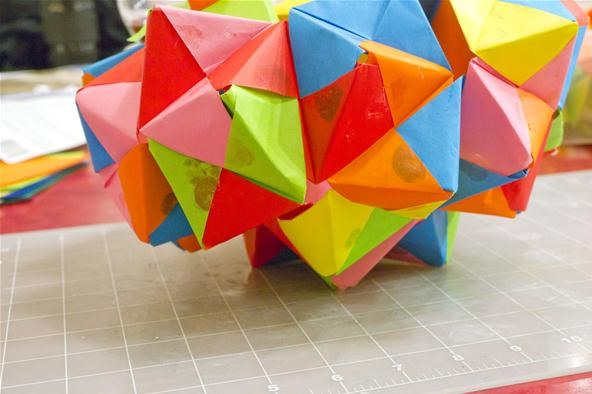 Modular Origami - spiky balls and stellated polyhedra models ... | 394x592