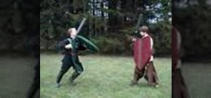 Master footwork during boffer combat