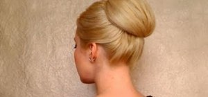 Create a New Year's Eve/Audrey Hepburn glamorous high bun