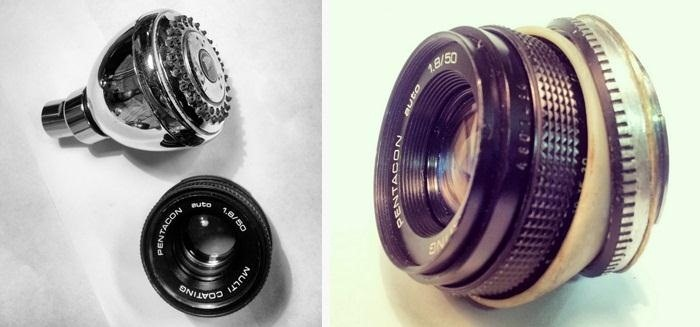 How to Make a 50mm Lens into a Tilt Lens Using a Shower Head