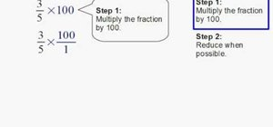 Convert fractions to percents in two steps