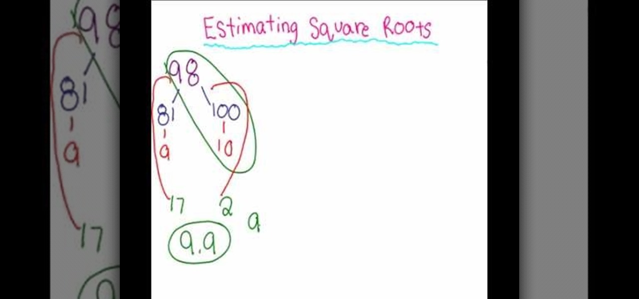 Estimate Square Roots