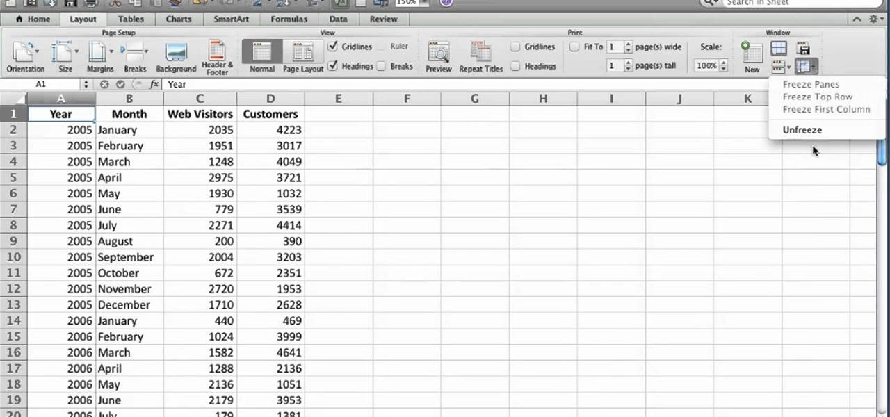 how to make columns rows in excel