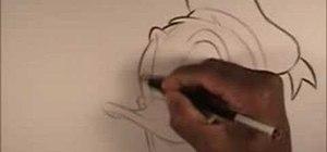 Draw Walt Disney character, Donald Duck