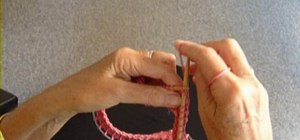 Do a knitting bind off (cast off) on a circular needle